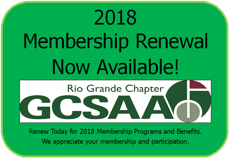 2018 Online Membership Renewal Now Available - Rio Grande GCSA